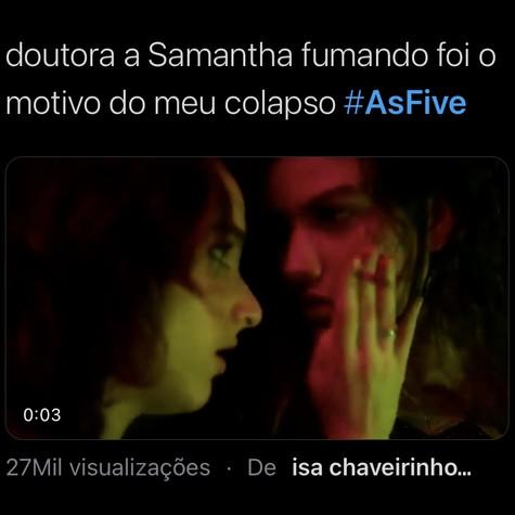 Quinto episódio de 'As five' repercurtiu nas redes (Foto: Reprodução/ Twitter)