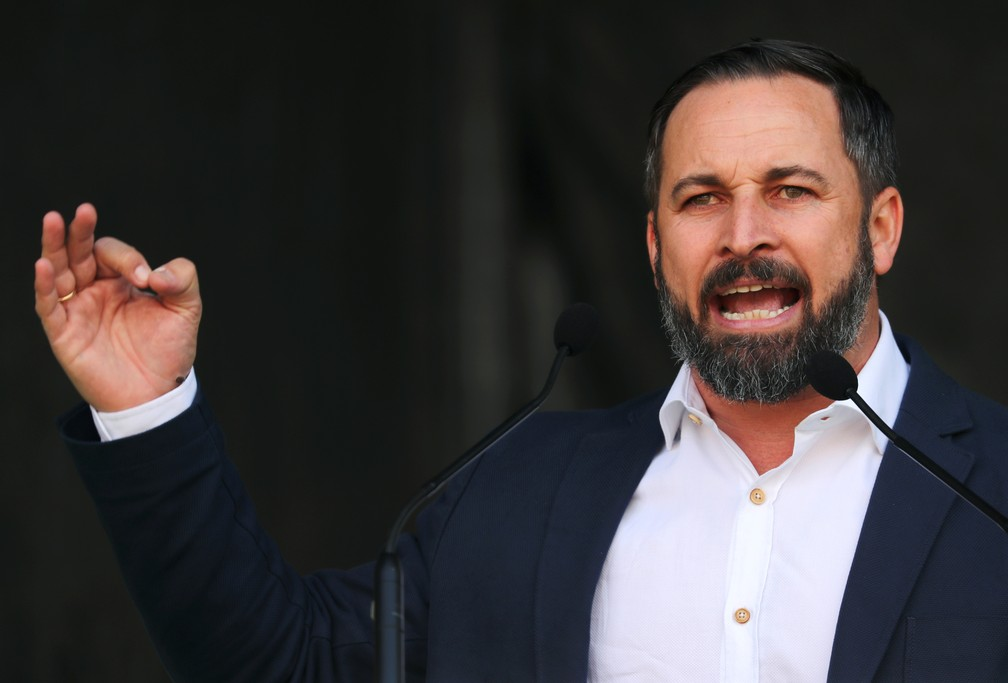 O líder do Vox, Santiago Abascal. — Foto: Sergio Perez/Reuters