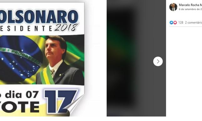 Procurador pediu votos para Jair Bolsonaro em 2018