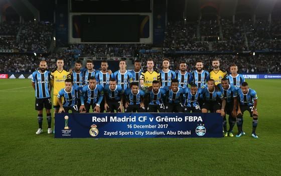O Grêmio foi aos Emirados Árabes e enfrentou o Real Madrid na final do Mundial de Clubes de 2017 (Foto: Getty Images)