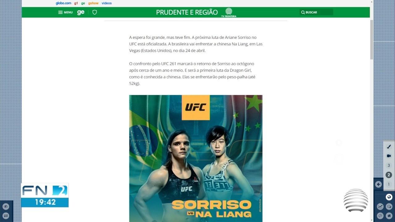 Atleta de Presidente Prudente tem nova luta marcada no UFC