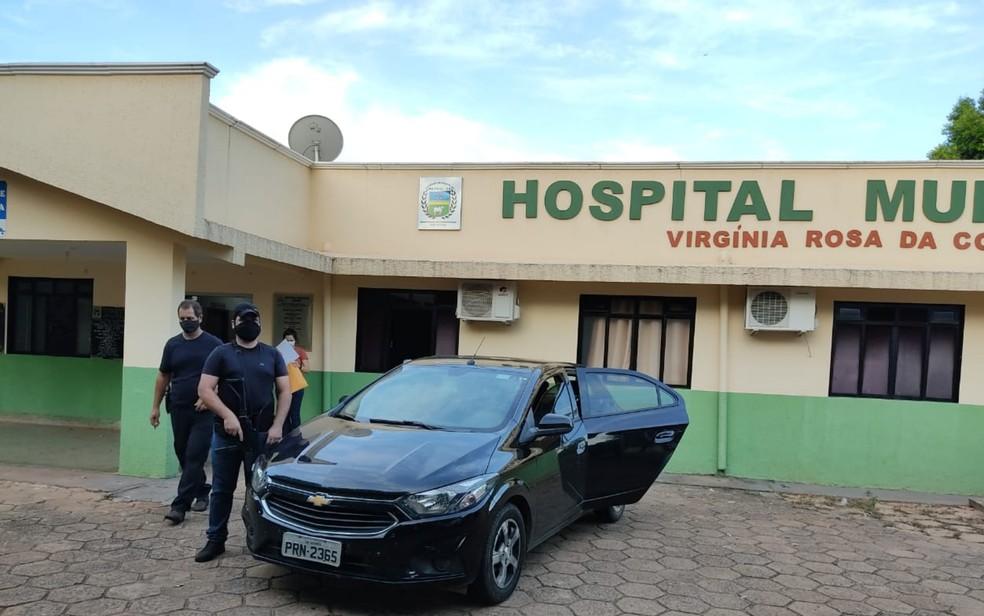 Hospital Minicipal Virginia Rosa da Costa onde médico foi preso em Mairiporá, Goiás  — Foto: Divulgação Polícia Civil