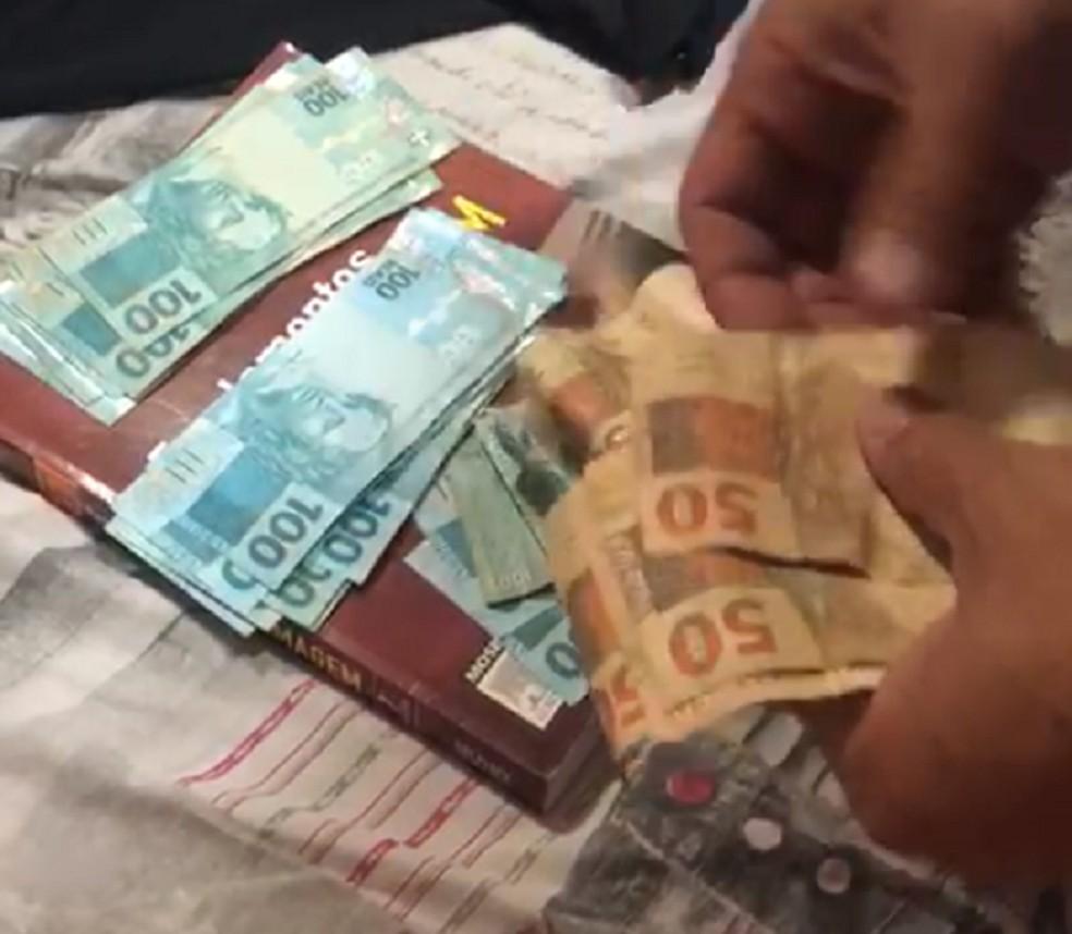 Operação contra fraude em licitação no Ceará apreende cerca de R$ 100 mil em espécie — Foto: Reprodução