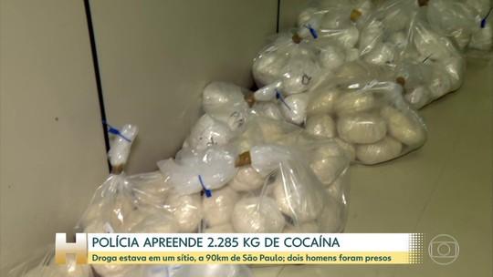 Polícia apreende 2.285 quilos de cocaína em SP