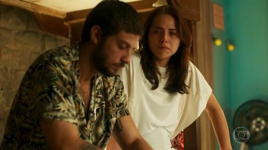 Chay Suede e Letícia Colin são exaltados por cena de 'Segundo Sol'