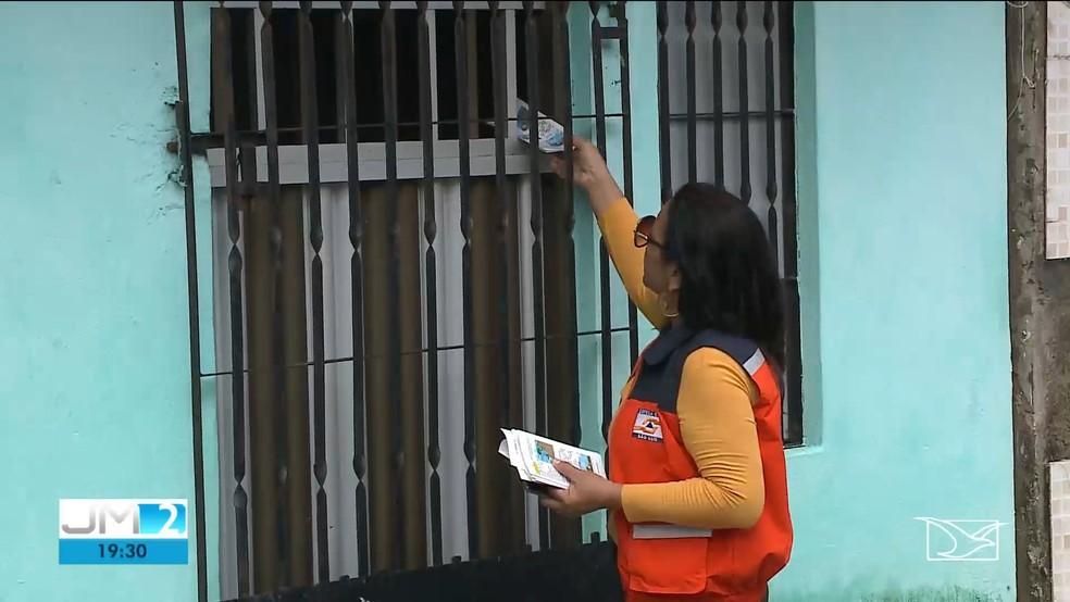 Equipes da Defesa Civil realizam monitoramento em áreas de risco. — Foto: Reprodução/TV Mirante