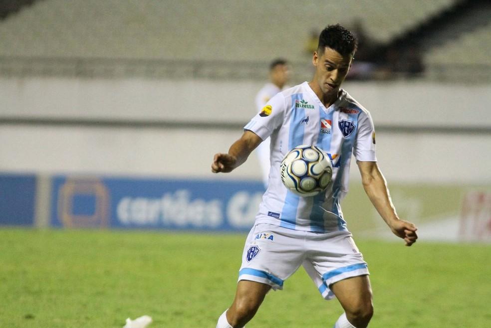 Thomaz jogou a Série B pelo Paysandu, que terminou a competição rebaixado à Série C — Foto: Fernando Torres/Paysandu