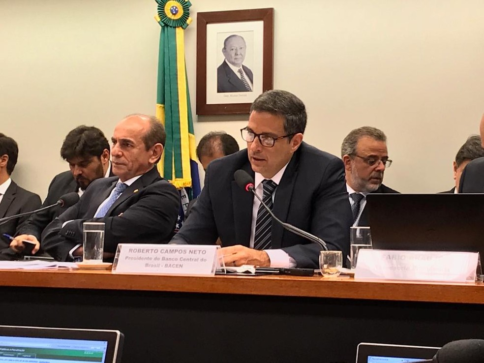 Presidente do BC, Roberto Campos Neto, em audiência pública na Câmara dos Deputados — Foto: Alexandro Martello/G1