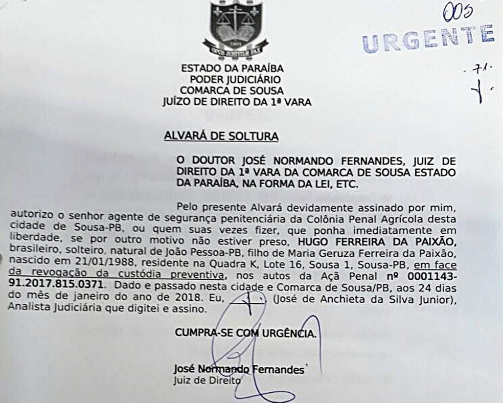 Vítima pagou advogado para suspeito, que foi solto por juiz na Paraíba (Foto:  João Hélio/Acervo pessoal)