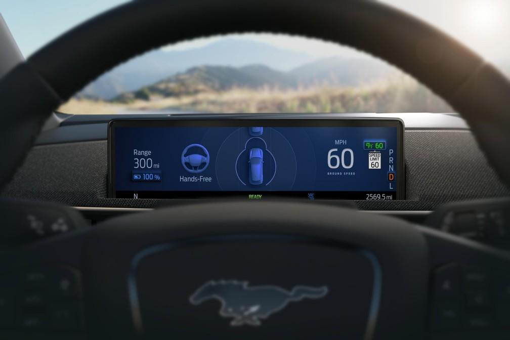 Sistema Co-Pilot 360 chegará ao Mustang Mach-E em 2021 — Foto: Divulgação