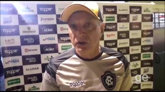 Gramado sintético prejudicou estilo de jogo do Remo contra o São José-RS, avalia Fernandes