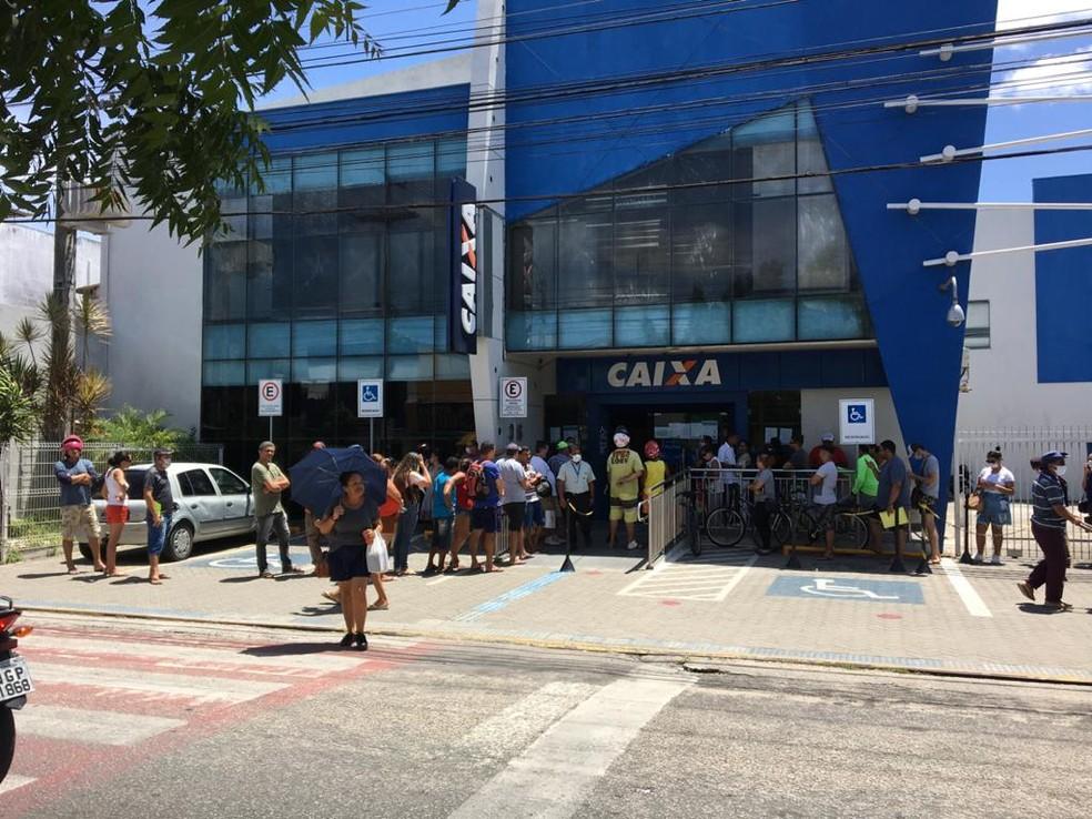 Agência da Caixa em Parnamirim é uma das que deverá abrir em horário estendido (Arquivo 08/04) — Foto: Quezia Oliveira/Inter TV Cabugi