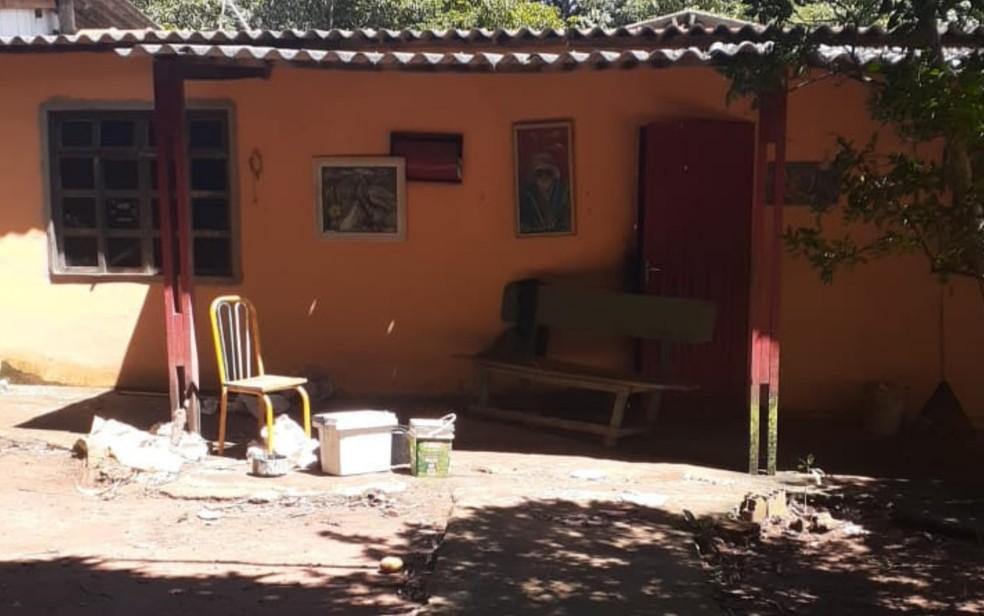 Chácara onde o jornalista Eduardo Ramos Jordão foi encontrado morto, em Abadia de Goiás — Foto: Reprodução/TV Anhanguera