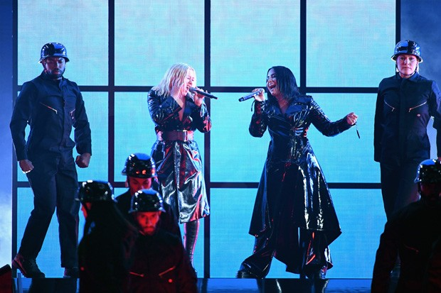 Christina Aguilera e Demi Lovato (Foto: Getty Images)
