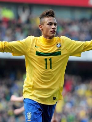 Neymar Comemoração Brasil x Escócia (Foto: Getty Images)