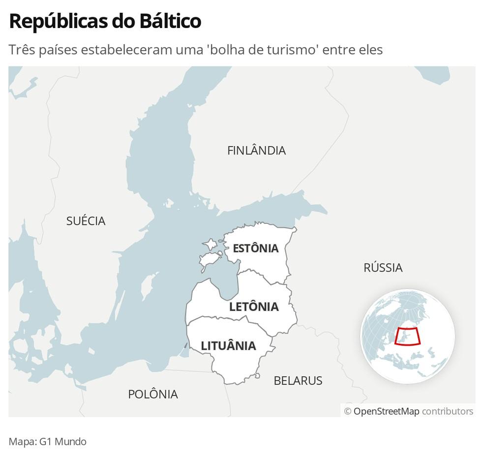 Países do Báltico formam 'bolha de turismo' — Foto: G1 Mundo