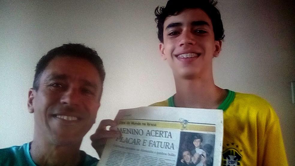 Felipe José Nader apostou em bolão que Brasil perderia da Alemanha por 7 a 1 (Foto: Arquivo Pessoal)