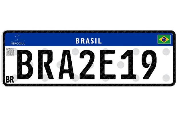 A nova placa do Mercosul já está em circulação em alguns estados (Foto: Divulgação)