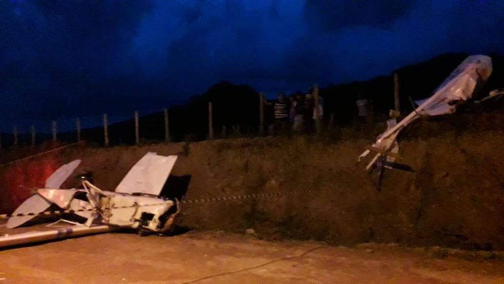 Avião caiu no início da noite desta quarta-feira — Foto: Arquivo pessoal