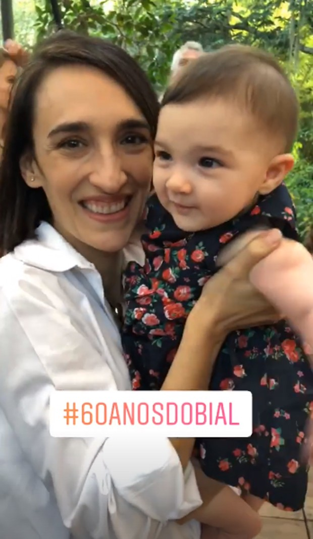 Maria Prata com a filha, Laura (Foto: Reprodução)