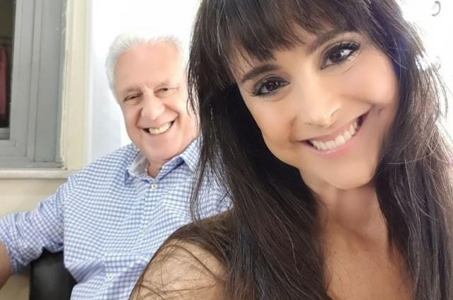 Alexandra Martins e o marido, Antônio Fagundes (Foto: Reprodução)