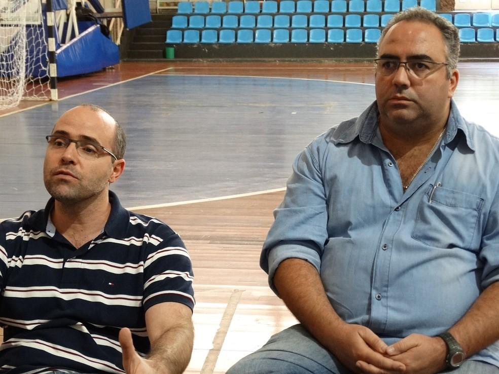Maurício Bara e Heglison Toledo explicaram sobre o porquê da desistência e falaram sobre o futuro do projeto — Foto: Bruno Ribeiro