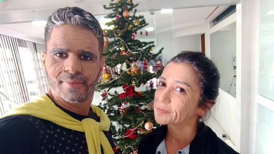 Maquiagem artística de envelhecimento dá uma prévia da aparência aos 80anos