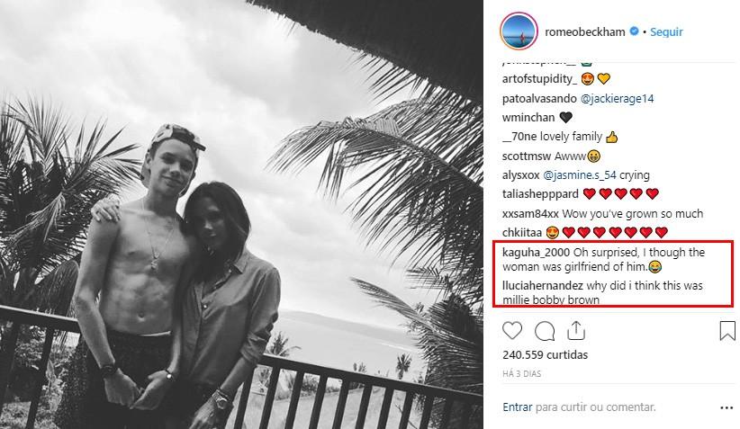 Victoria Beckham e Romeo (Foto: Instagram)