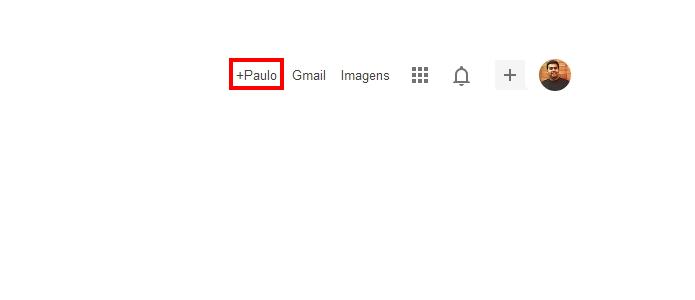 Clique no botão com seu nome para acessar o Google+ (Foto: Reprodução/Paulo Alves)