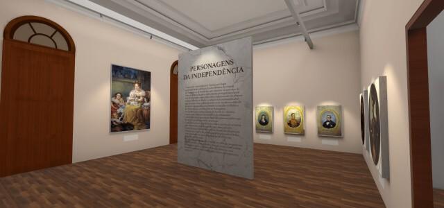 Aplicativo permite visitar Museu do Ipiranga virtualmente (Foto: Reprodução/app Museu do Ipiranga Virtual)