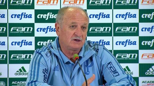 """Felipão diz que continuará poupando, mas acredita que Palmeiras pode """"chegar"""" nas três competições"""