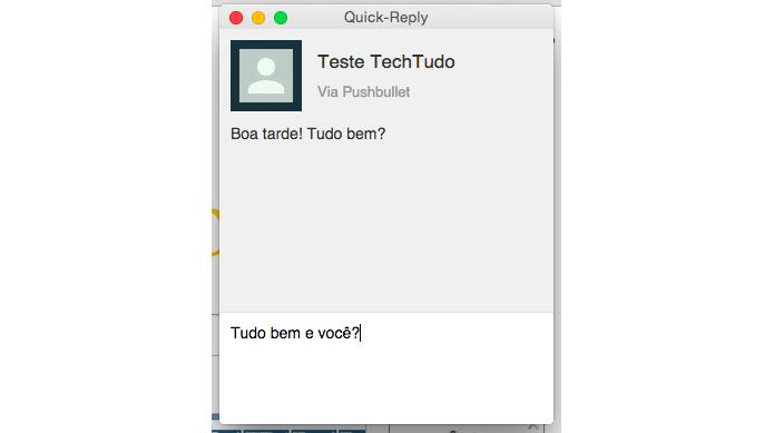 Digite sua mensagem com o teclado do computador (Foto: Reprodução/Paulo Alves)
