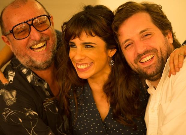 Xico Sá, Maria Ribeiro e Gregório Duvivier (Foto: Foto:  Divulgação)