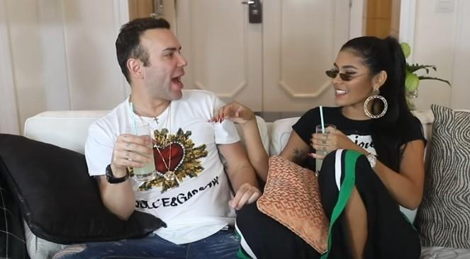 Matheus Mazzafera e MC Pocahontas contam segredos da intimidade (Foto: Reprodução / Youtube)
