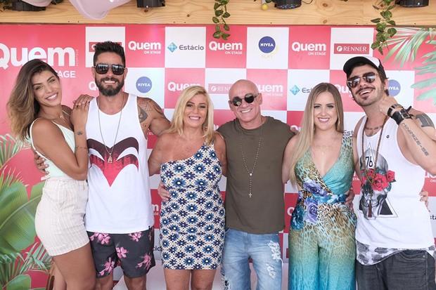QUEM On Stage recebe os Ex-BBBs: Diego e Franciele Grossi, Cida Moraes, Ayrton Lima, Patrícia Leitte e Max Porto (Foto: Renato Wrobel/QUEM)