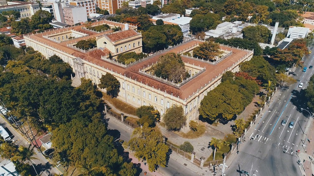 Palácio Universitário, no Câmpus da Praia Vermelha da UFRJ — Foto: Reprodução/TV Globo