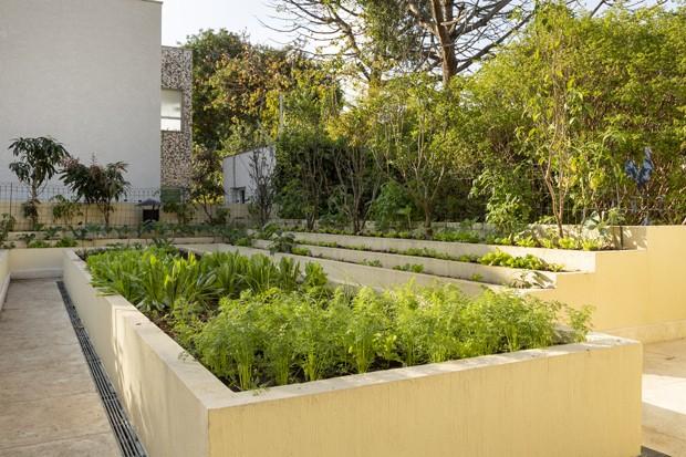 Casa ganha terraço com horta, churrasqueira e área de estar (Foto: Julia Ribeiro )