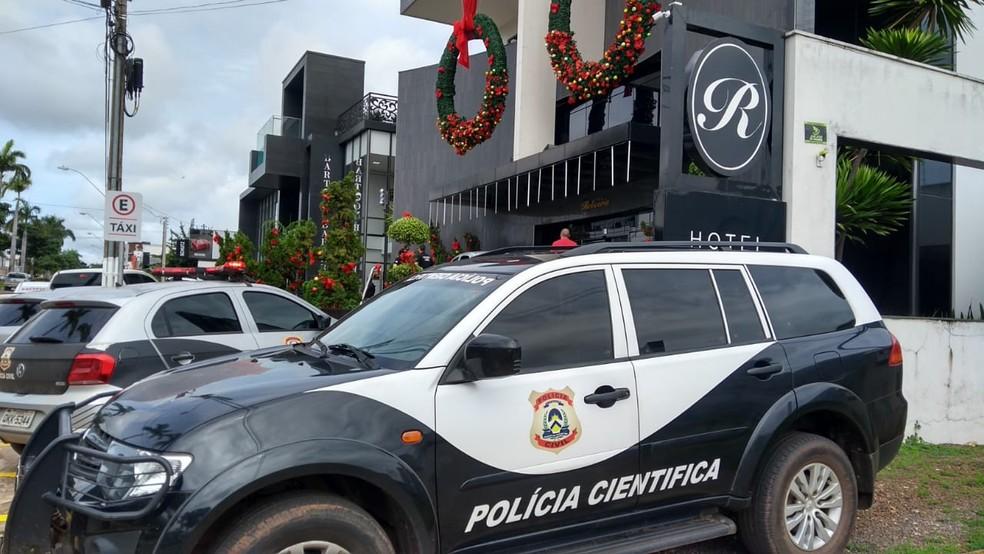 Polícia cumpre mandados em hotel de luxo em Araguaína — Foto: AF Notícias/Divulgação
