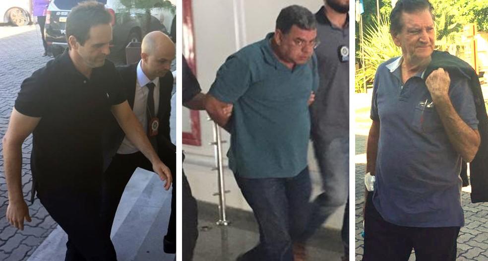 João Carlos, Domício e João dos Anjos, os outros três presos na Operação Alameda — Foto: Cristina Boeckel/G1