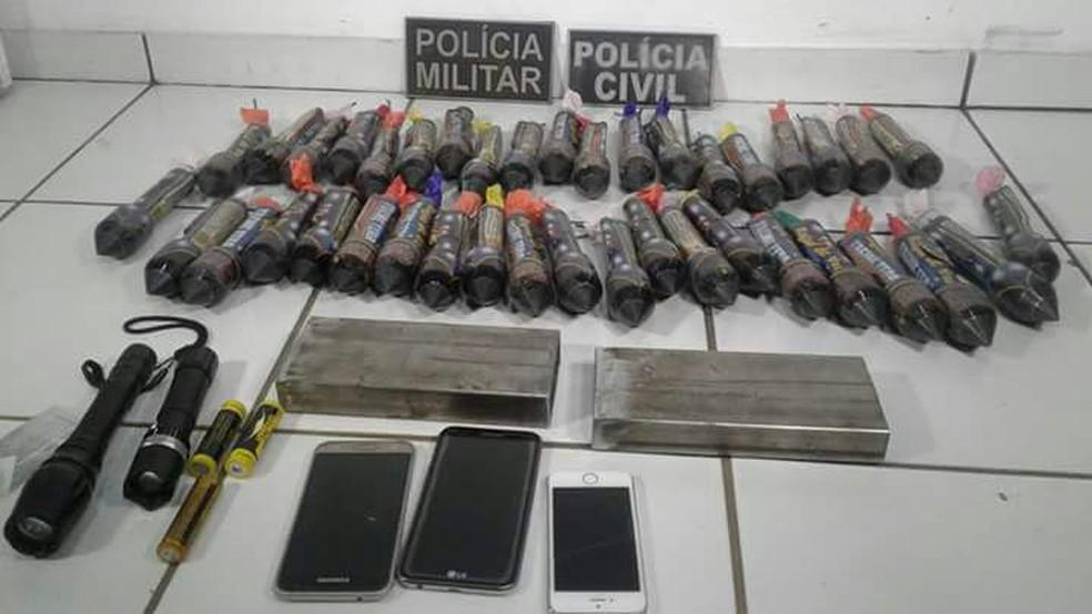 Polícia desarticula quadrilha especializada em assaltos à bancos. (Foto: Divulgação/SSP)