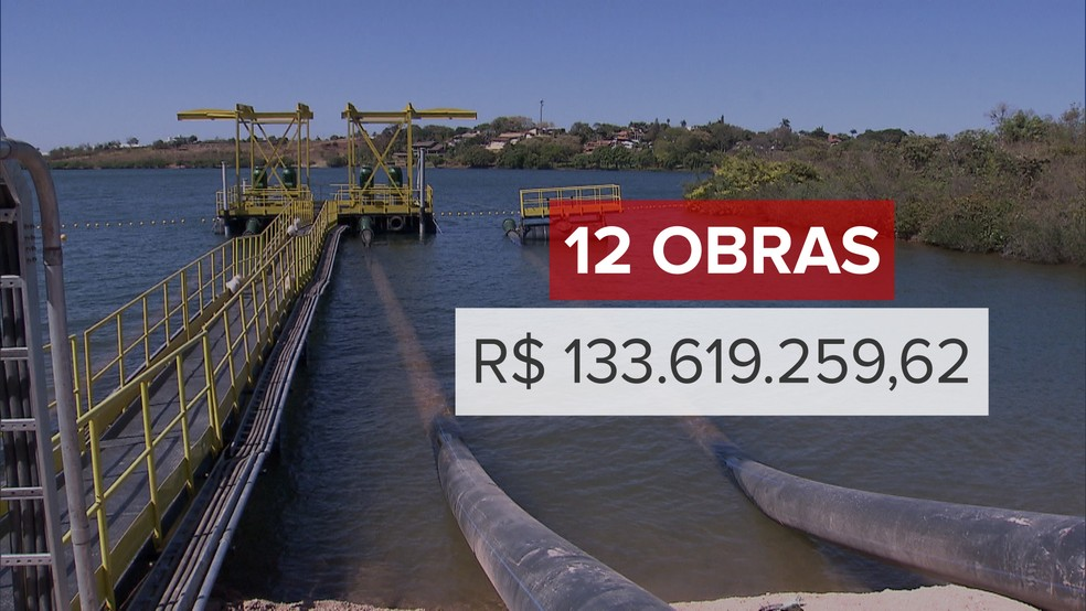 Caesb deu andamento, em 2017, a 12 obras, totalizando um investimento de 133.619.259,62 em 2017 (Foto: Jessica Almeida/TV Globo)