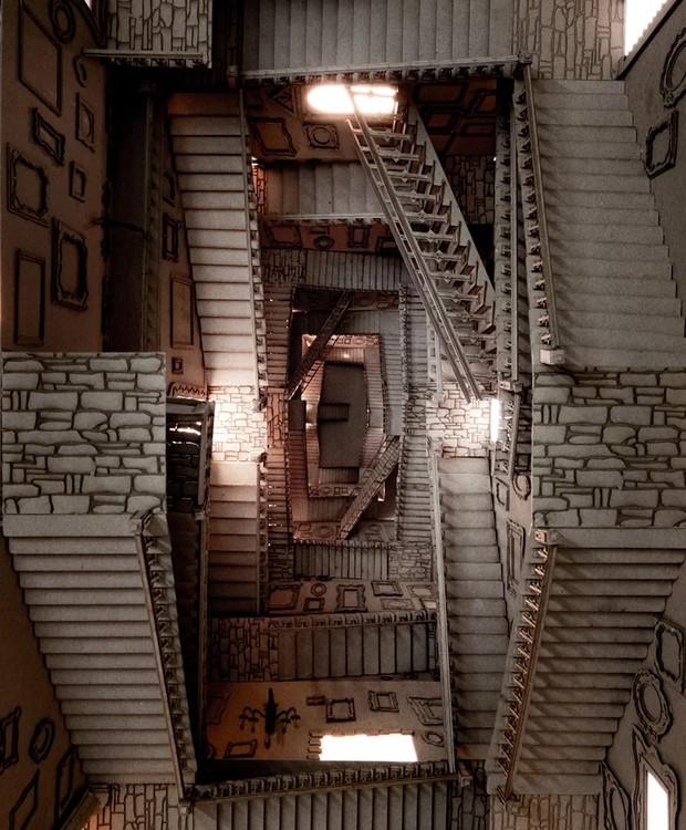 Escadaria das construções de Harry Potter (Foto: Melbourne School of Design/ Reprodução)