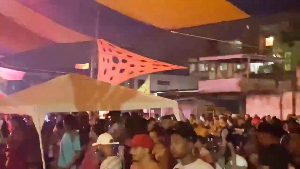 Baile realizado na comunidade da Pedreira — Foto: Reprodução/redes sociais