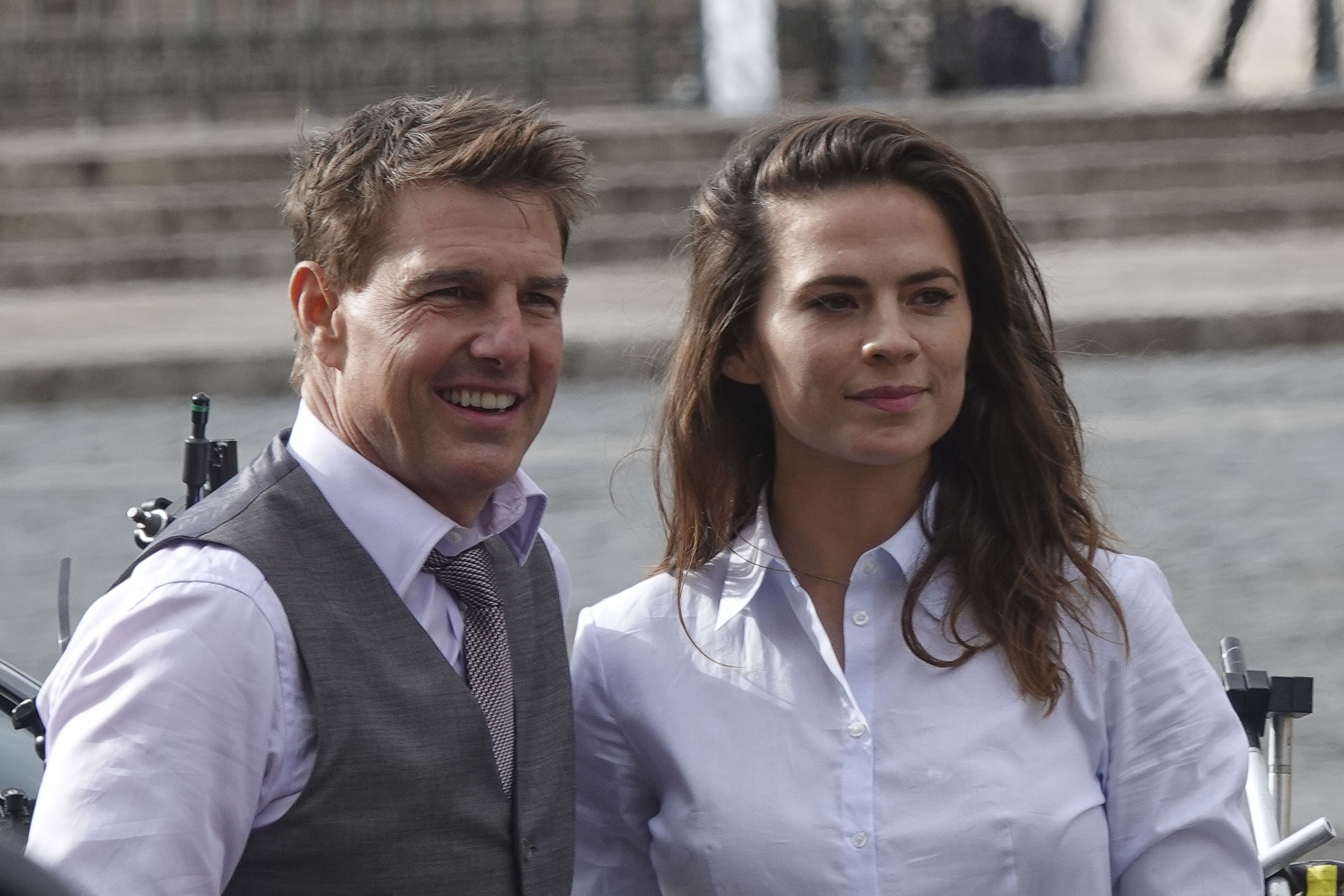 Tom Cruise e Hayley Atwell (Foto: Getty Images)