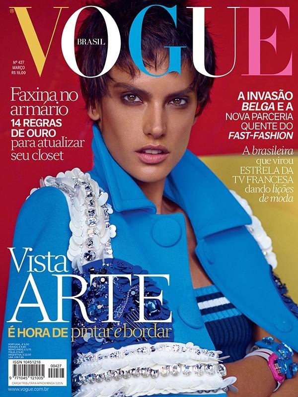 Alessandra Ambrosio on the cover of the April 2014 photo: Mariano Vivanco)