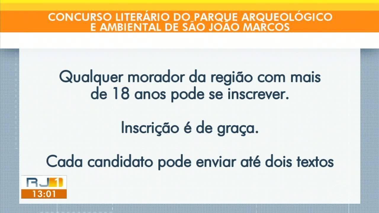 Abertas as inscrições para o concurso literário do Parque de São João Marcos, em Rio Claro