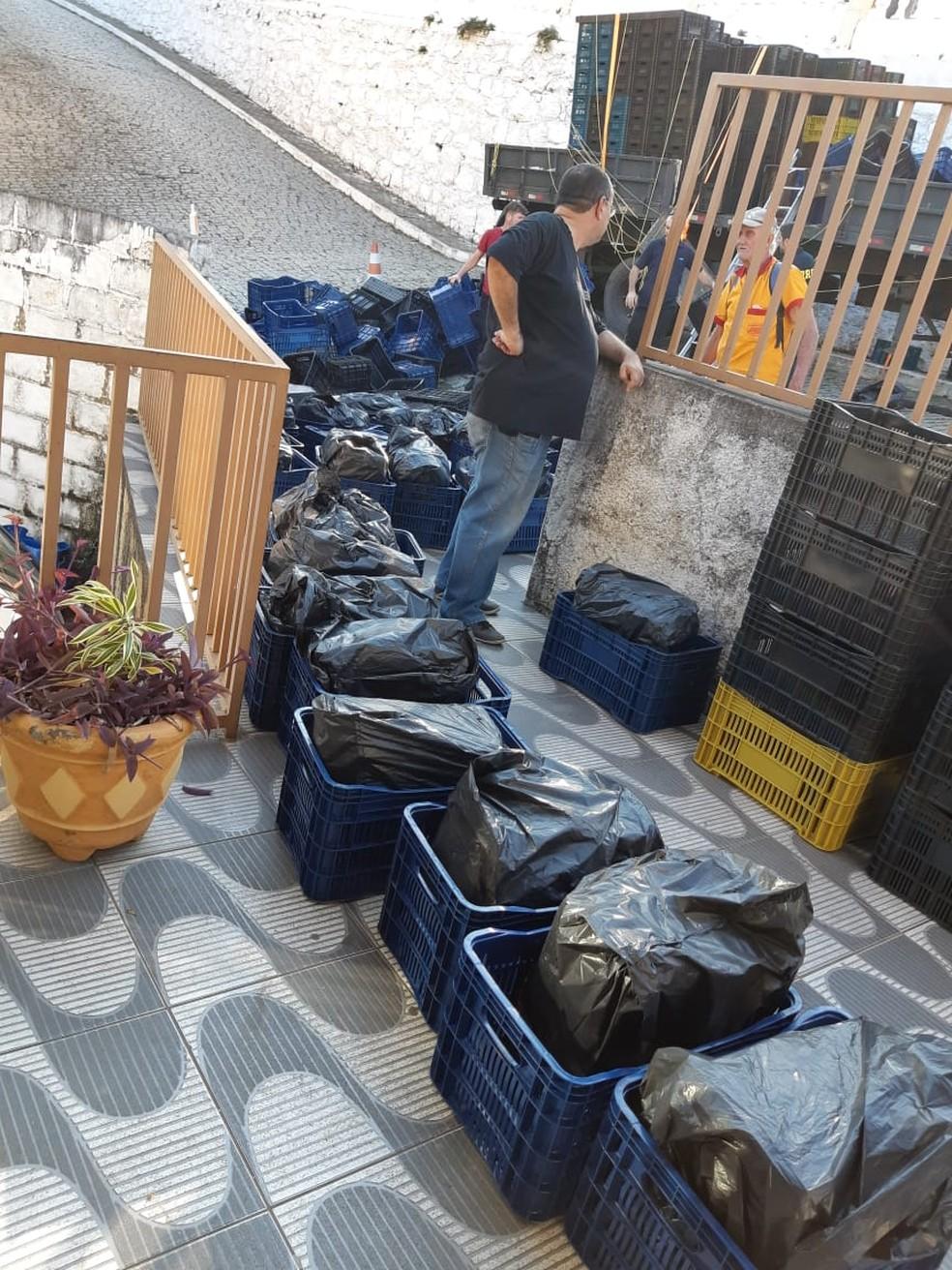 PRF estima que duas toneladas de maconha tenham sido apreendidas (Foto: Polícia Civil/Divulgação)
