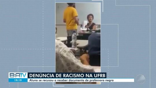 Professora da UFRB denuncia racismo  de aluno que recusou receber prova em sala de aula; VÍDEO