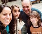 Claudia Mauro com Paulo Cesar Grande e os filhos | Reprodução/Instagram
