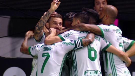 """Lucas Lima festeja golaço pelo Palmeiras: """"Mostramos nossa cara dentro de campo"""""""